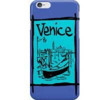 Venice lagoon sketch iPhone Case/Skin