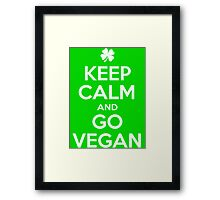 Keep calm and go Vegan Framed Print