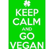 Keep calm and go Vegan Photographic Print