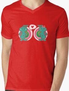 Funky Boy Loves Girl Mens V-Neck T-Shirt