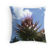 tickling the clouds Throw Pillow