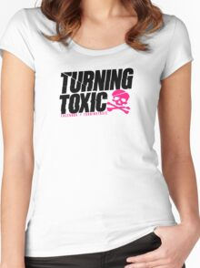 Turning Toxic  Women's Fitted Scoop T-Shirt