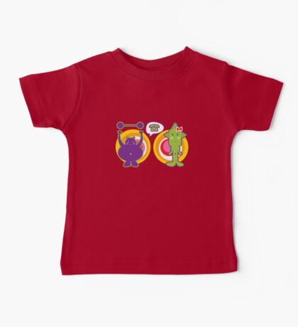 Mr. Purple and Miss Green Baby Tee