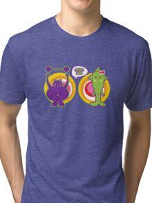 Mr. Purple and Miss Green Tri-blend T-Shirt