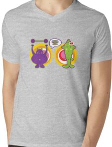 Mr. Purple and Miss Green Mens V-Neck T-Shirt