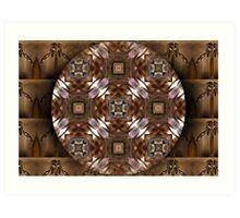 Mandala Marrón Art Print