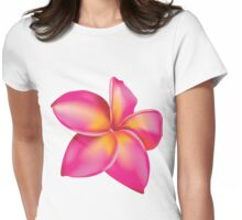 Plumeria flower 2 Womens Fitted T-Shirt