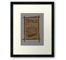 Venice lagoon vintage sketch Framed Print
