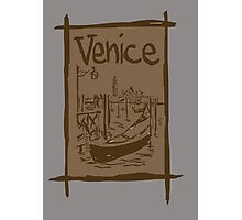 Venice lagoon vintage sketch Photographic Print