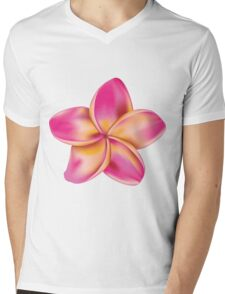 Plumeria flower Mens V-Neck T-Shirt