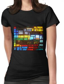 Straight from Camera Stain Glass Duvet Womens Fitted T-Shirt
