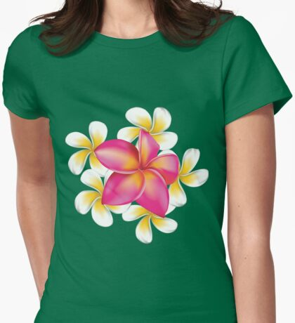 Plumeria flower 3 Womens Fitted T-Shirt