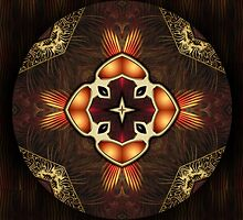 Oriental Mandala 4 by Thanya