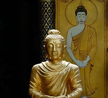 Buddha And Mural by Dave Lloyd
