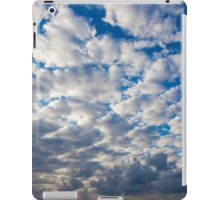 Cumulus Cloudscape white clouds in blue sky background  iPad Case/Skin