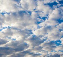 Cumulus Cloudscape white clouds in blue sky background  Sticker