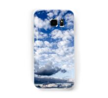 Cumulus Cloudscape white clouds in blue sky background  Samsung Galaxy Case/Skin