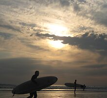 Sunset Surfers by Pippa Carvell
