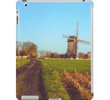 Landscape with windmill in Huise, Belgium  iPad Case/Skin