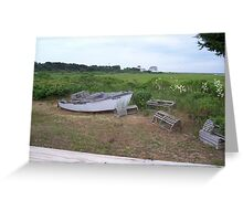 Cape Cod Rowboat Greeting Card