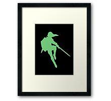 Link silhouette Framed Print