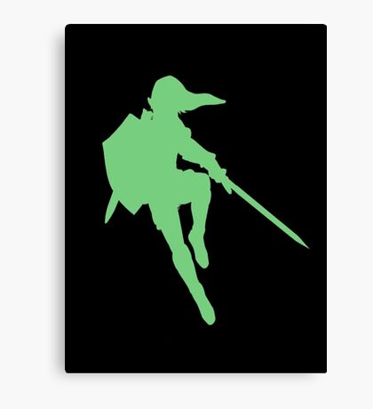 Link silhouette Canvas Print