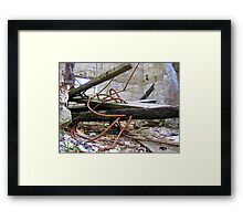 electronic remains Framed Print