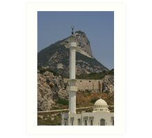 Gibraltar's Highest Point Art Print