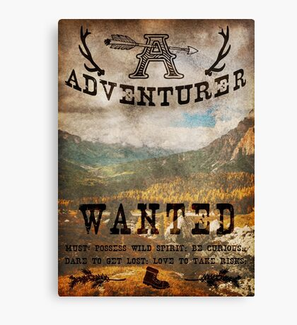 Adventurer Wanted Canvas Print
