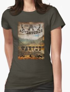 Adventurer Wanted Womens Fitted T-Shirt