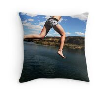 Katie Cliff Jumps Throw Pillow