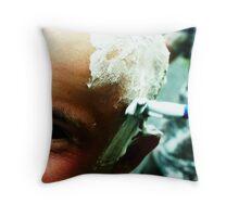 Travis Gets a Mohawk Throw Pillow