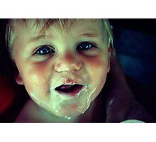 Yogurt Face Photographic Print