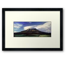 The Mountain That Knows How to Hook the Passing Clouds Framed Print