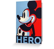 Mickey Mouse Hero Greeting Card