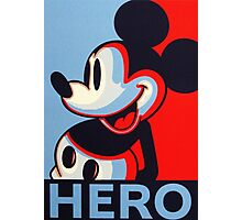 Mickey Mouse Hero Photographic Print