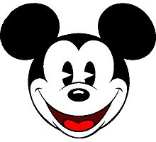 Mickey Mouse Smile Photographic Print