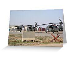 Med Evac Choppers Greeting Card
