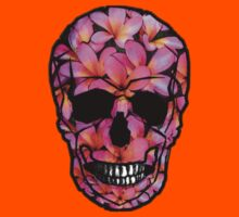 Skull with Pink Frangipani Flowers Kids Clothes