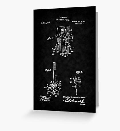 Magic - 1916 Knife Trowing Illusion Patent Greeting Card