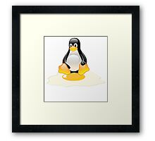 LINUX TUX  PENGUIN EGG MISCARRIAGE  Framed Print