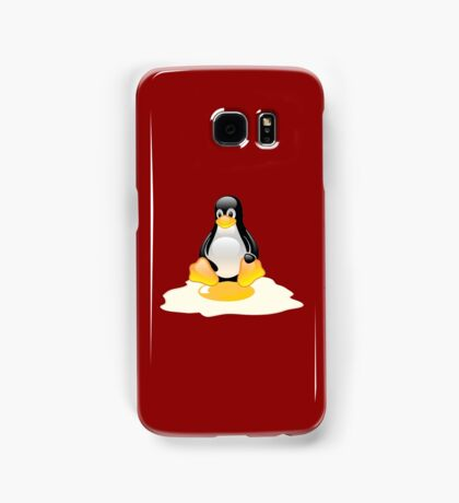 LINUX TUX  PENGUIN EGG MISCARRIAGE  Samsung Galaxy Case/Skin