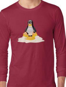 LINUX TUX  PENGUIN EGG MISCARRIAGE  Long Sleeve T-Shirt