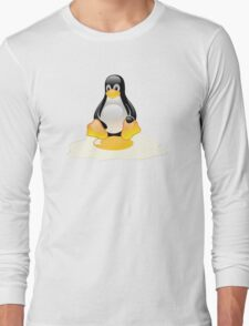LINUX TUX  PENGUIN EGG MISCARRIAGE  Long Sleeve T-Shirt