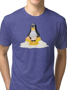 LINUX TUX  PENGUIN EGG MISCARRIAGE  Tri-blend T-Shirt