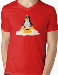 LINUX TUX  PENGUIN EGG MISCARRIAGE  Mens V-Neck T-Shirt
