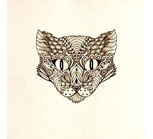 Decorative image of a cat Photographic Print