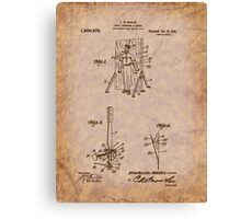 Magician - 1916 Knife Trowing Illusion Patent Canvas Print