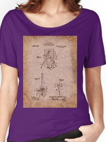 Magician - 1916 Knife Trowing Illusion Patent Women's Relaxed Fit T-Shirt