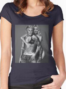 Justin Bieber Calvin Klein Parody - Ellen & Portia Women's Fitted Scoop T-Shirt